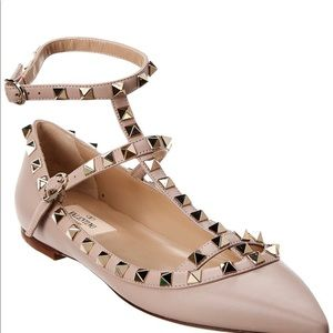 New Valentino poudre rockstud cage ballet flats HP